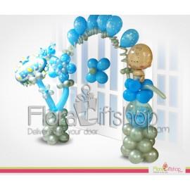 Baby Boy Door Decoration Balloons