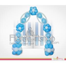 Blue & white Door Decoration
