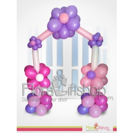 Purple & Pink Flowers Door Decoration