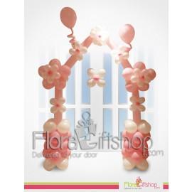 Stylish Pink & white Door Decoration