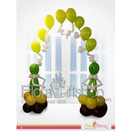 Two Green Aliens  Door Decoration Balloons