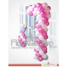 Baby Bottle Door Decoration Balloons