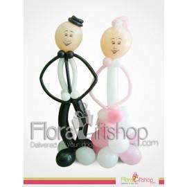 Bride & Groom Wedding Balloons