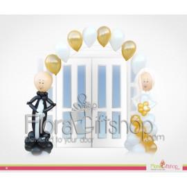 Golden Bride & Groom Wedding Balloons
