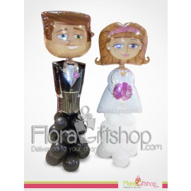 Happy Bride & Groom Balloons