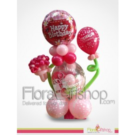 Happy Birthday Gift and Balloons