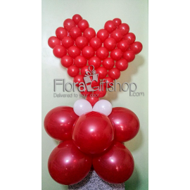 Hot Red Heart Balloons
