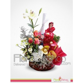 Congrats Flowers and Chocolates